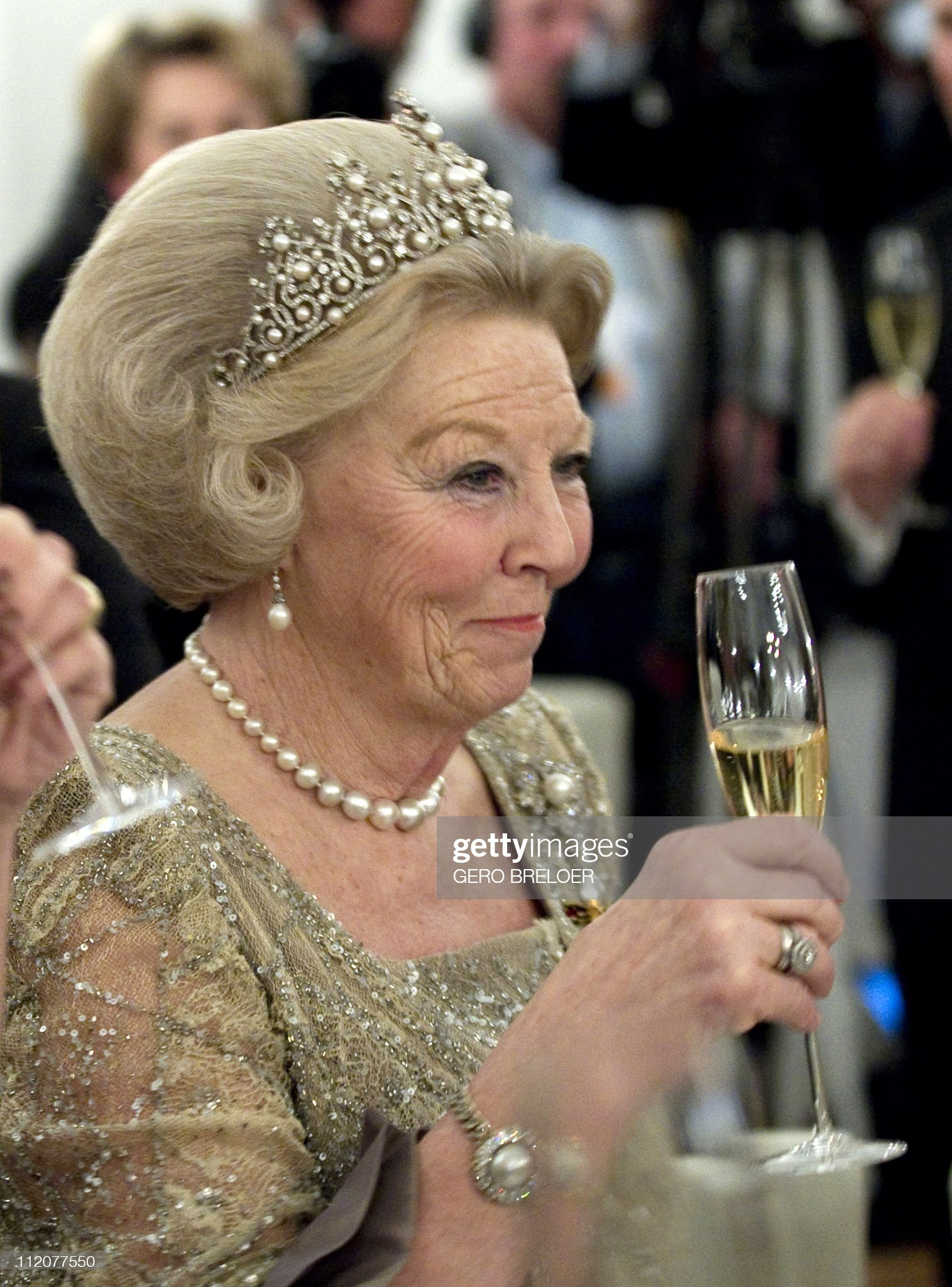 Queen Beatrix of the Netherlands holds h : News Photo