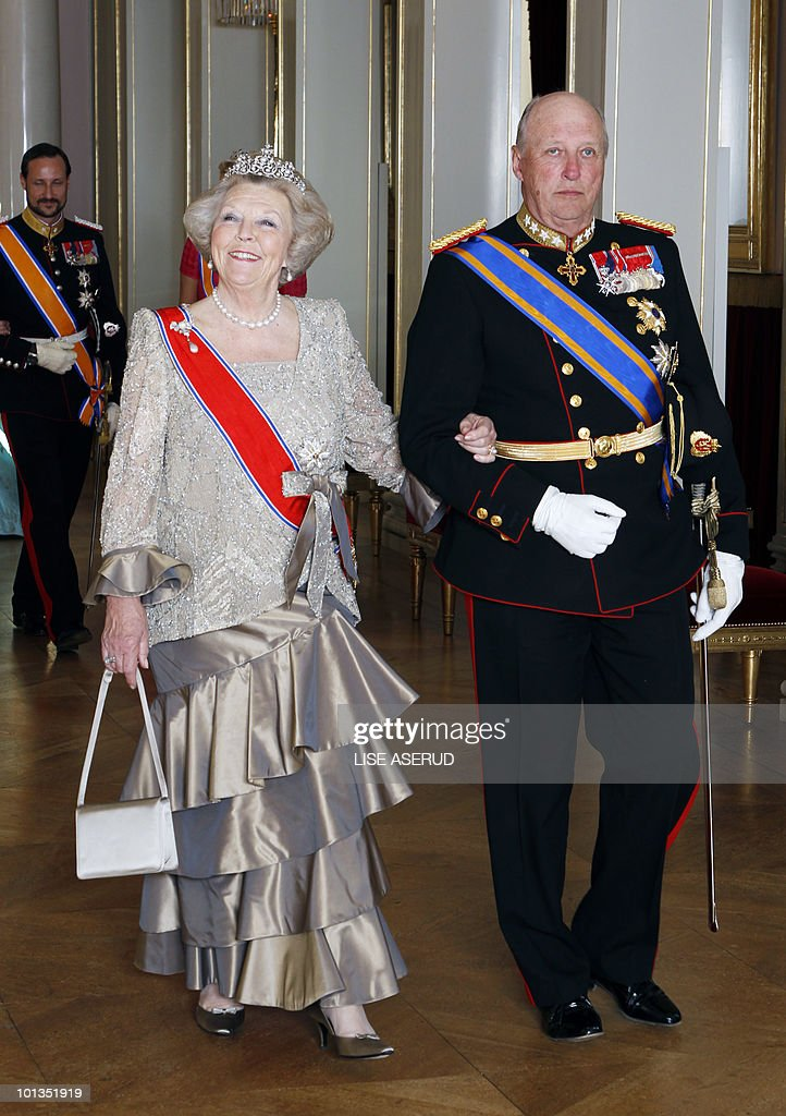 Queen Beatrix of the Netherlands,  in No : News Photo