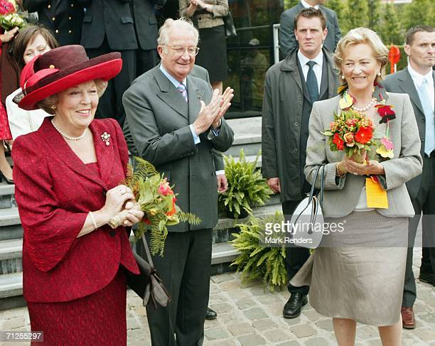 Queen Beatrix of the Netherlands King Albert II and Queen Paola of Belgium walk in Ghent City as part of a 3 day visit to Belgium on June 21 2006 in...