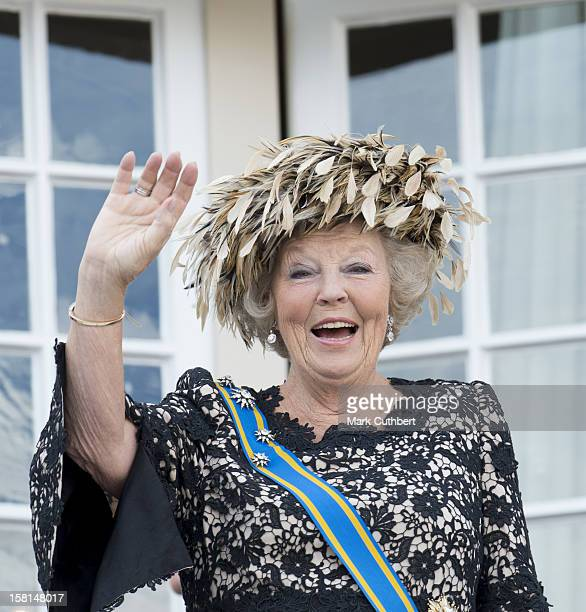 Queen Beatrix Of The Netherlands On The Balcony During Princes Day At The Noordeinde Palace In Den Haag Holland