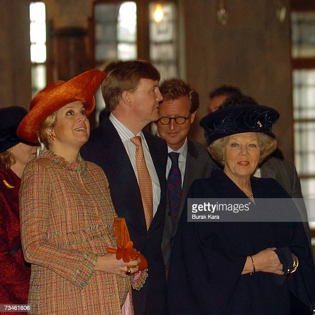 Queen Beatrix of the Netherlands Prince Willem Alexander of the Netherlands and Princess Maxima of the Netherlands visit the Blue Mosque in Istanbul...