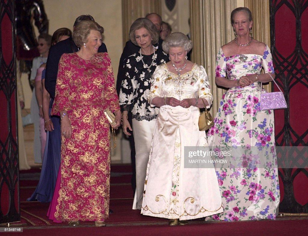 Queen Beatrix of the Netherlands, Queen Sofia of S : News Photo