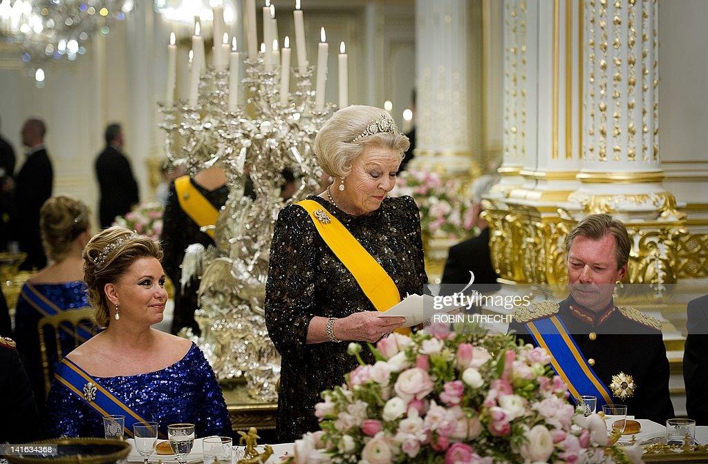 Queen Beatrix of the Netherlands (C) spe : News Photo