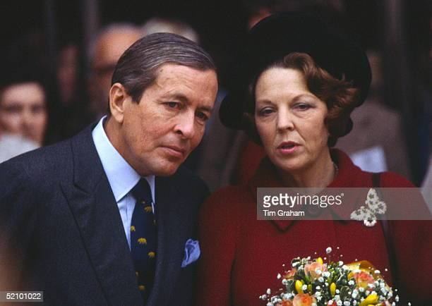 Queen Beatrix Of The Netherlands With Her Husband Prince Claus During A Visit To Peterborough