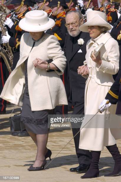 Queen Beatrix Prince Bernhard Attend The Funeral Of Hrh Princess Juliana Of The Netherlands At The Nieuwe Kerk In Delft