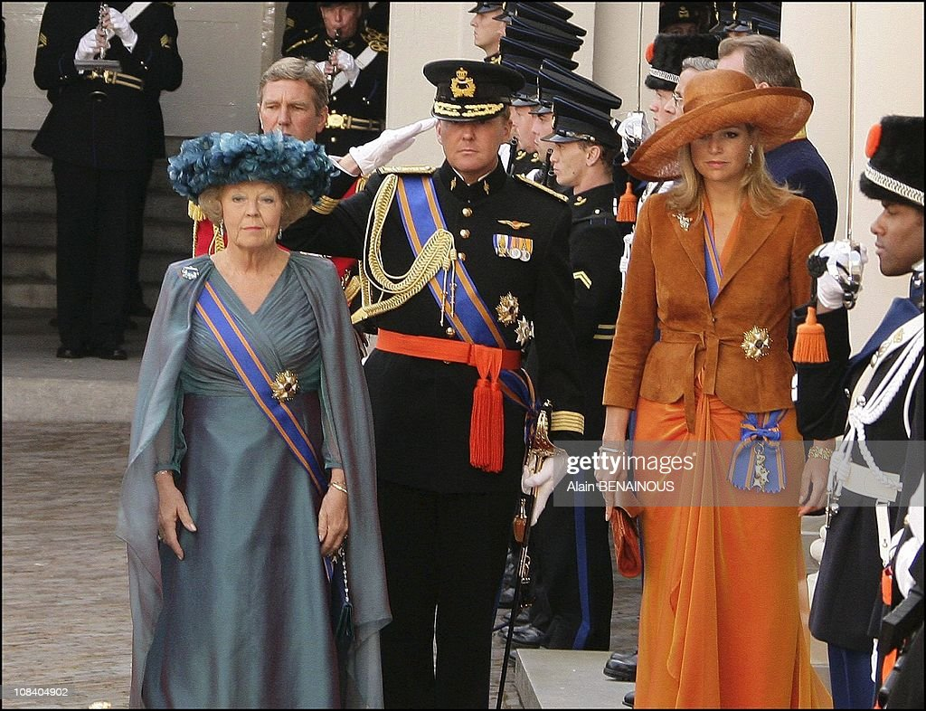 The Dutch Royal family at the opening of the Parliament's ceremony in The Hague, Netherlands on September 20, 2005. : News Photo