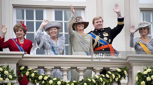 Queen Beatrix, Princess Laurentien, Princess Margriet, Prince Willem And Princess Maxima Of The Netherlands At Princes Day At The Noordeinde Palace...