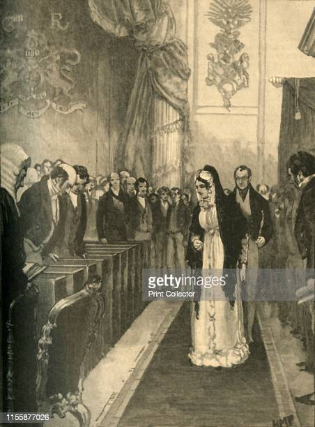 Queen Caroline entering the House of Lords during her trial Westminster London 1820 From Cassell's History of England Special Edition Vol V [Cassell...