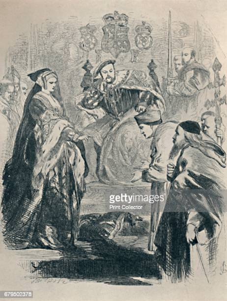 Lord Cardinal To You I Speak c1890 From 'King Henry The Eighth' Act II Scene 4' From British Book Illustration Yesterday and Today edited by Geoffrey...