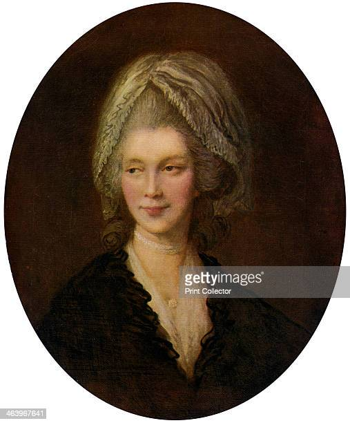 'Queen Charlotte' 18th century Charlotte of MecklenburgStrelitz became Queen Consort of King George III in 1761 A colour print from Famous Paintings...