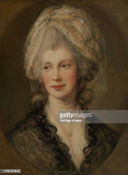 Queen Charlotte. Replica by Gainsborough of a portrait of the queen which he painted at Windsor Castle in September 1782. Artist Thomas Gainsborough.