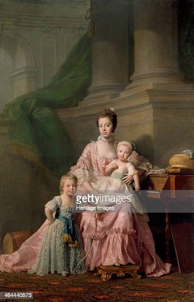 Queen Charlotte with her Two Eldest Sons 1769 Found in the collection of the Royal Collection London