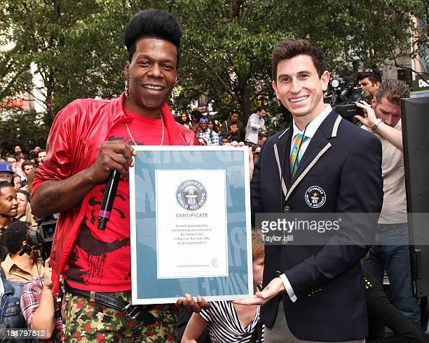 Queen diva Big Freedia breaks the Guinness world record for most simultaneous twerking at Herald Square on September 25 2013 in New York City