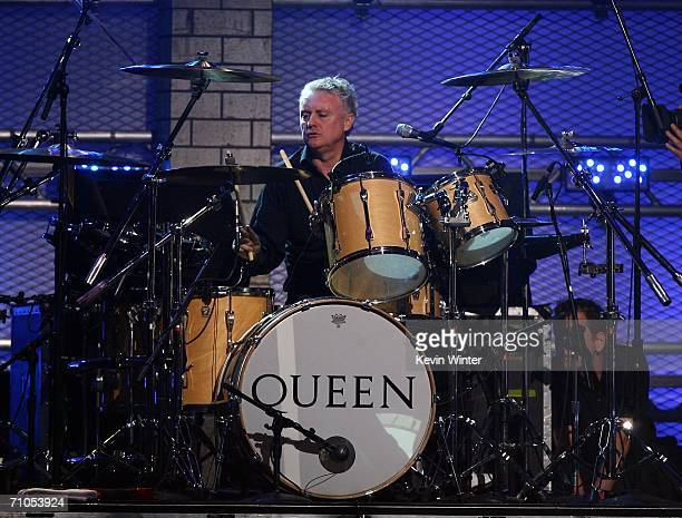 Queen drummer Roger Taylor performs during the VH1 Rock Honors at the Mandalay Bay Events Center on May 25 2006 in Las Vegas Nevada