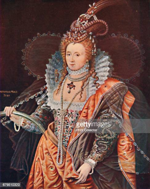 Queen Elizabeth An Emblematic Portrait by Zucchero' c1602 From the collection of the Hatfield House Hertfordshire From Social England Volume III...