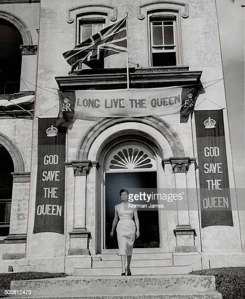 Queen Elizabeth and her husband leave tonight for Bermuda on the first lap of a worldcircling Commonwealth tour Shown is the House of Assembly in...