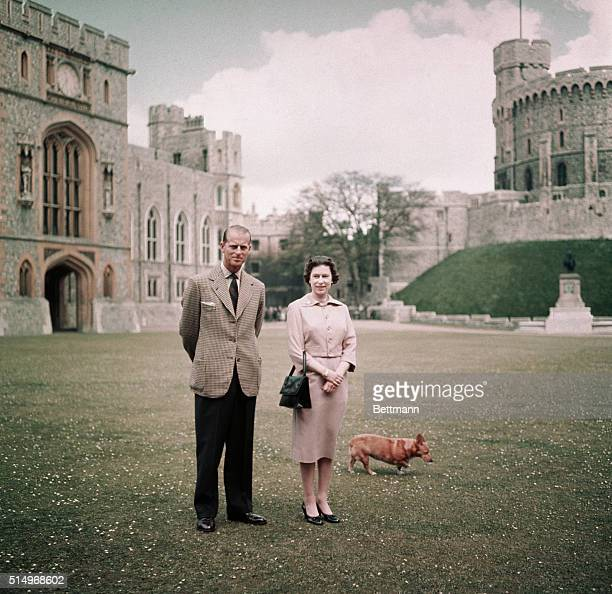 Queen Elizabeth and Prince Philip at Windsor Castle, Berkshire, England, 12th June 1959.