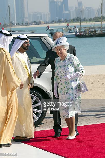 Queen Elizabeth And The Duke Of Edinburgh State Attend An Unveiling Of A Design For The Shiekh Zayed National Museum And Look At Other Projects In An...