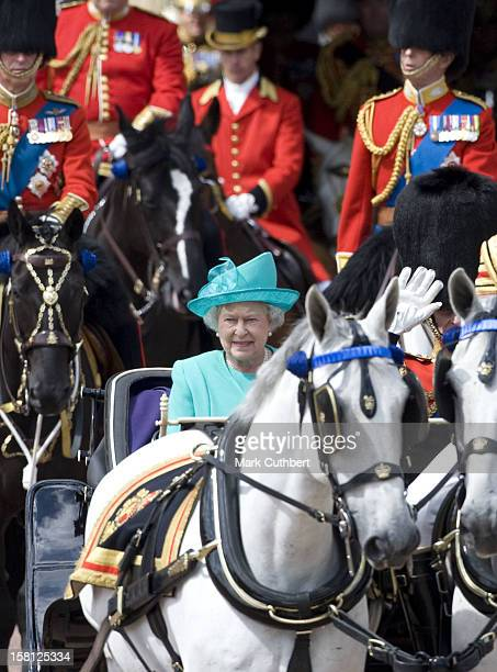 Queen Elizabeth Attends The 2008 Trooping Of The Colour Ceremony In London.