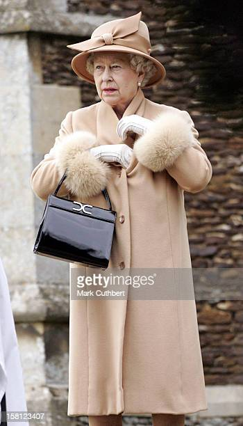 Queen Elizabeth Attends The Christmas Day Service At Sandringham Church