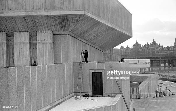 Queen Elizabeth Hall and Purcell Room Belvedere Road South Bank Lambeth London c19671980 Exterior view of the Queen Elizabeth and Purcell Room...