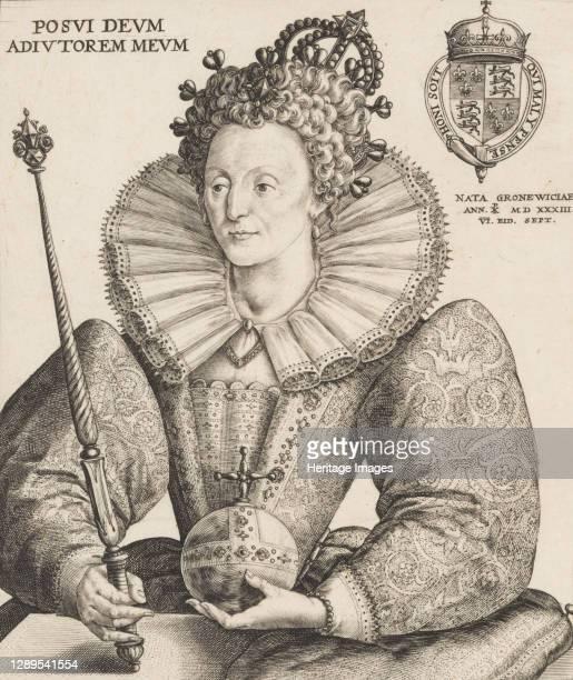 Queen Elizabeth I, 1592. Artist Crispijn de Passe I.