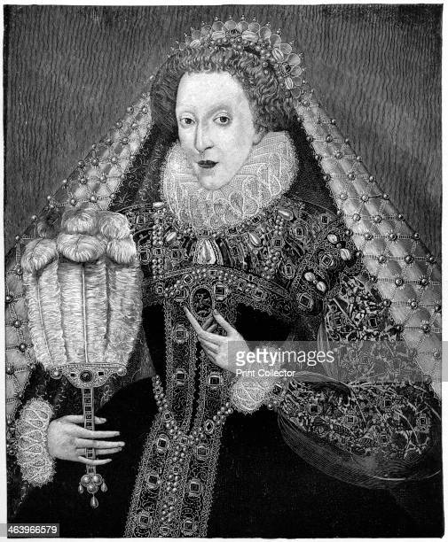 Queen Elizabeth I c1580 A 19thcentury rendition from the Penshurst portrait presented to her by Sir Henry Sidney painted by Zucchero The headdress is...