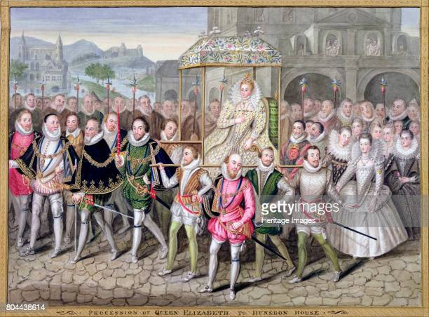 Queen Elizabeth I in procession with her courtiers c16001603 After an oil painting attributed to Robert Peake at Sherborne Castle From Memoirs of the...