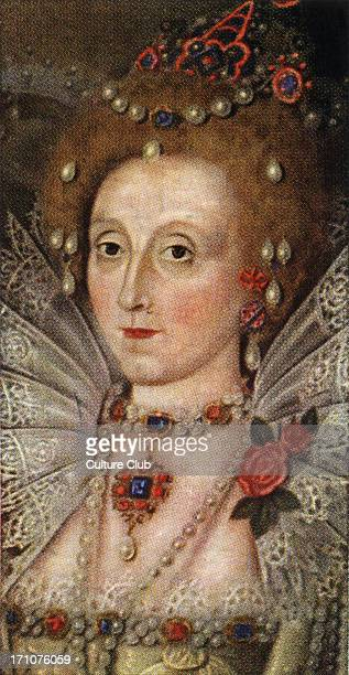 Queen Elizabeth I portrait The daughter of Anne Boleyn and Henry VIII Her reign saw the beginning of imperial expansion and the rise of England to a...