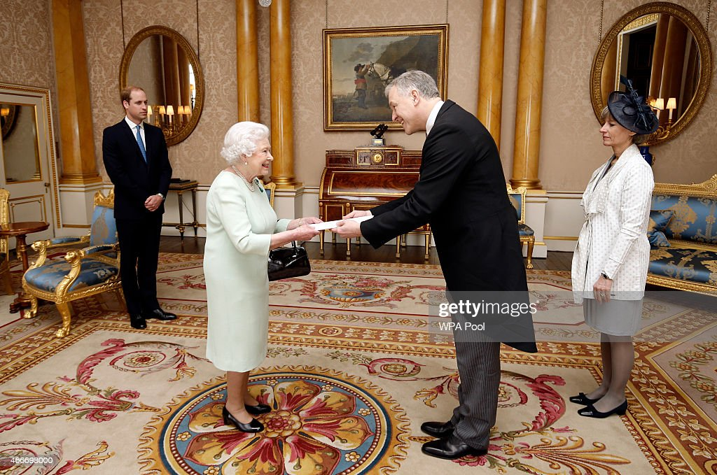 The Queen And Duke Of Cambridge Attend Private Audiences At Buckingham Palace : News Photo