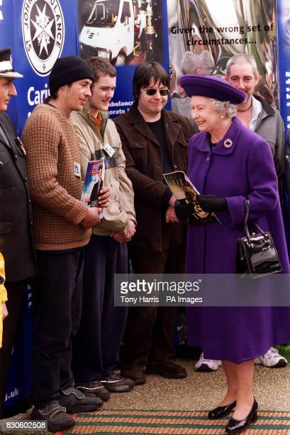 Queen Elizabeth II after she had bought a copy of the Big Issue from vendor Ivan Betson during a visit to Brighton The Queen met Ivan when she was...