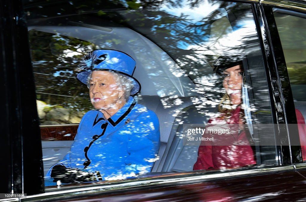 The Royal Family And Prime Minister Theresa May Attend Crathie Church