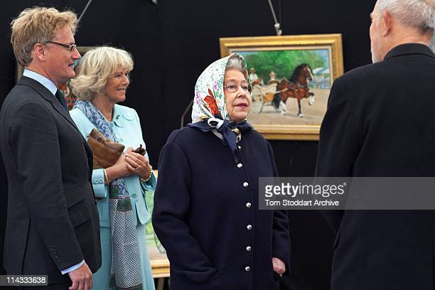 Queen Elizabeth II and Camilla Duchess of Cornwall at the Royal Windsor Horse Show Berkshire 12th May 2011
