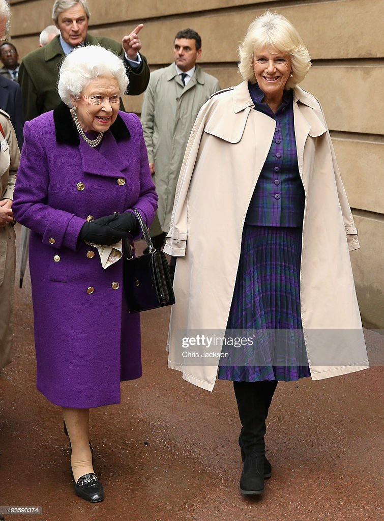 The Queen And Duchess Of Cornwall Attend Engagement In Support Of The Brooke : News Photo