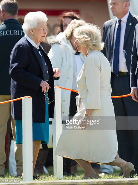 Queen Elizabeth II and Camilla, Duchess of Cornwall attend the Royal Windsor Horse show in the private grounds of Windsor Castle on May 13, 2015 in...