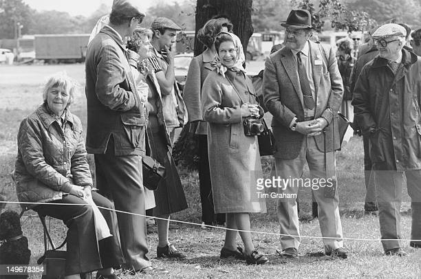 Queen Elizabeth II and friends attend the Windsor Horse Show UK 15th May 1981
