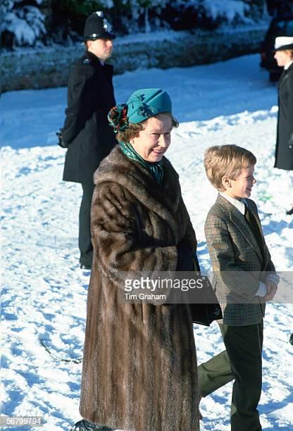 Queen Elizabeth II and her grandson Peter Phillips at Sandringham