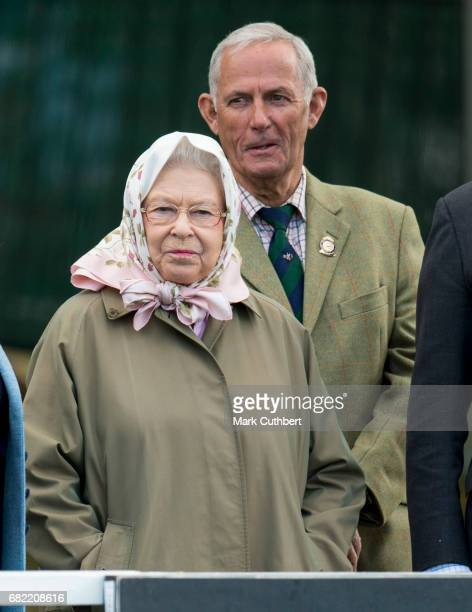 Queen Elizabeth II and her Head Groom Terry Pendry during the Windsor Horse Show on May 12 2017 in Windsor England