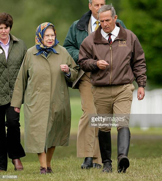 HM Queen Elizabeth II and her Stud Groom Terry Pendry attend day 4 of the Royal Windsor Horse show on May 15 2009 in Windsor England