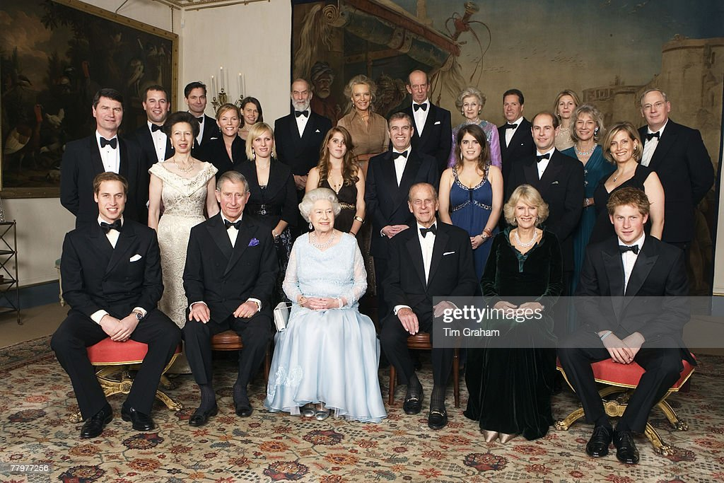 HM Queen Elizabeth II and HRH Prince Philip, Duke of Edinburgh are joined by members of the Royal Family for a dinner in Clarence House hosted by HRH The Prince of Wales and HRH The Duchess of Cornwall, on Sunday November 18, 2007 in London, England. . The dinner party is in celebration of the forthcoming Diamond Wedding Anniversary of the Queen and The Duke.
