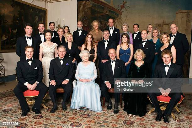 Queen Elizabeth II and HRH Prince Philip Duke of Edinburgh are joined by members of the Royal Family for a dinner in Clarence House hosted by HRH The...