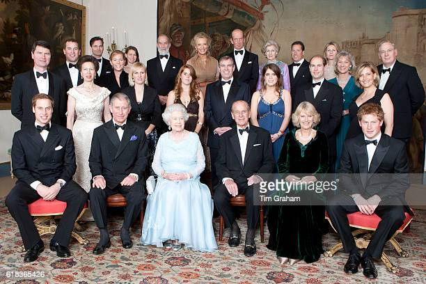 HM Queen Elizabeth II and HRH The Duke of Edinburgh at Clarence House with family members for a dinner hosted to mark their Diamond Wedding...