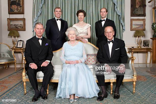HM Queen Elizabeth II and HRH The Duke of Edinburgh joined at Clarence House by family members for a dinner to mark their Diamond Wedding Anniversary...