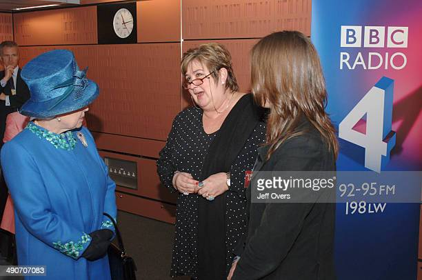 Queen Elizabeth II and Jenni Murray Queen Elizabeth II during a visit to the BBCs Broadcasting House in London 20 April 2006 on the day before her...