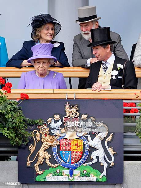 Queen Elizabeth II and John Warren attend day 4 of Royal Ascot at Ascot Racecourse on June 22 2012 in Ascot England