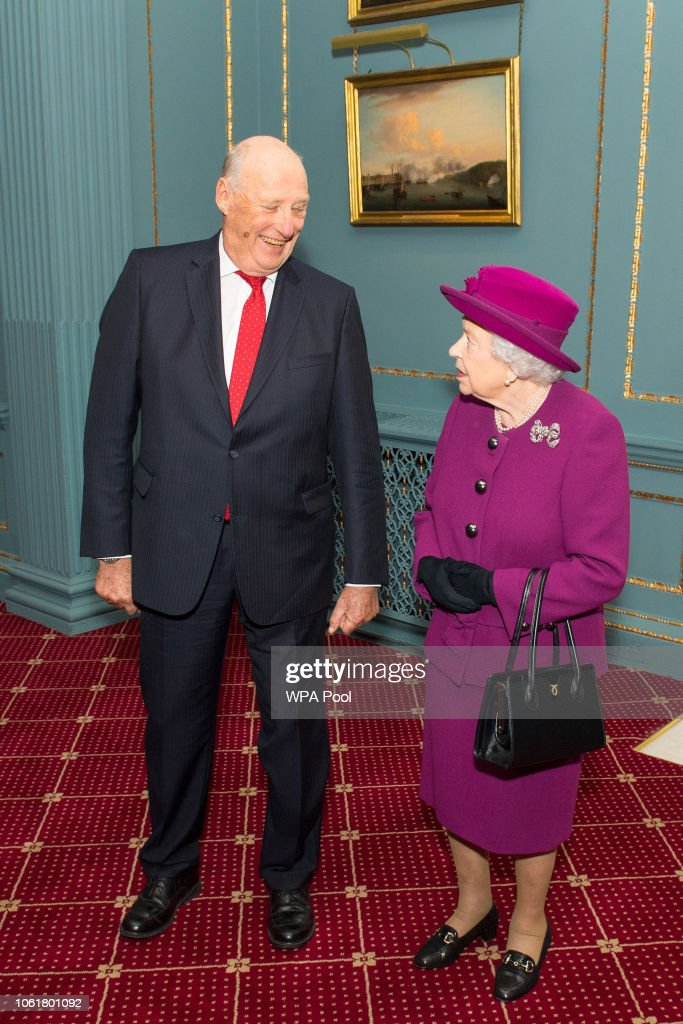 The Queen Attends The Anglo-Norse Society Centenary Reception : News Photo