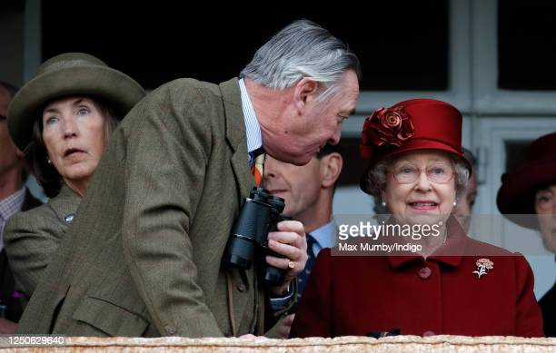 Queen Elizabeth II and Lord Samuel Vestey attend day 4 'Gold Cup Day' of the Cheltenham Festival at Cheltenham Racecourse on March 13, 2009 in...
