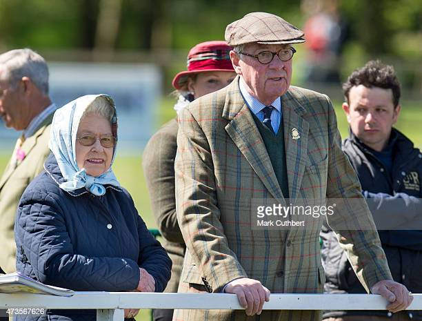 Queen Elizabeth II and Lord Vestey attend the Royal Windsor Horse show in the private grounds of Windsor Castle on May 16, 2015 in Windsor, England.