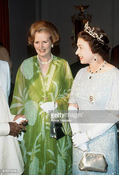 Queen Elizabeth II and Margaret Thatcher visit Zambia for the Commonwealth conference in 1979 in Lusaka Zambia