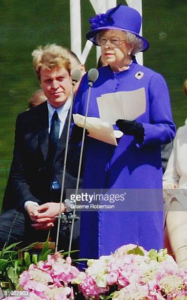 Queen Elizabeth II and members of the Royal Family attend the opening of the Diana Memorial Fountain in memory of the late Princess Diana Princess of...
